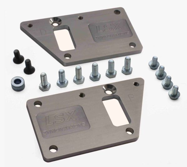 LS conversion Motor Mounts Non Adjustable Steel by LSX Innovations